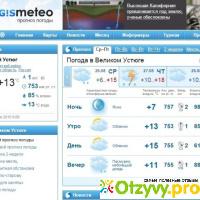 GISMETEO RU: Погода в Великом Устюге на сегодня