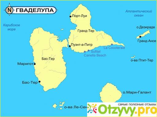 Отзыв о Где находится Гваделупа на карте мира?