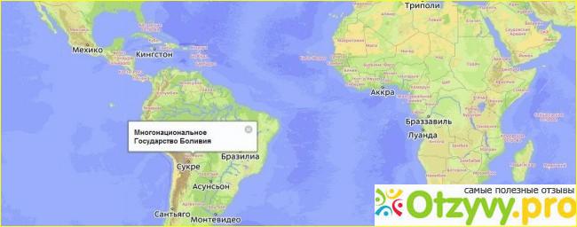 Отзыв о Где находится Боливия на карте мира?