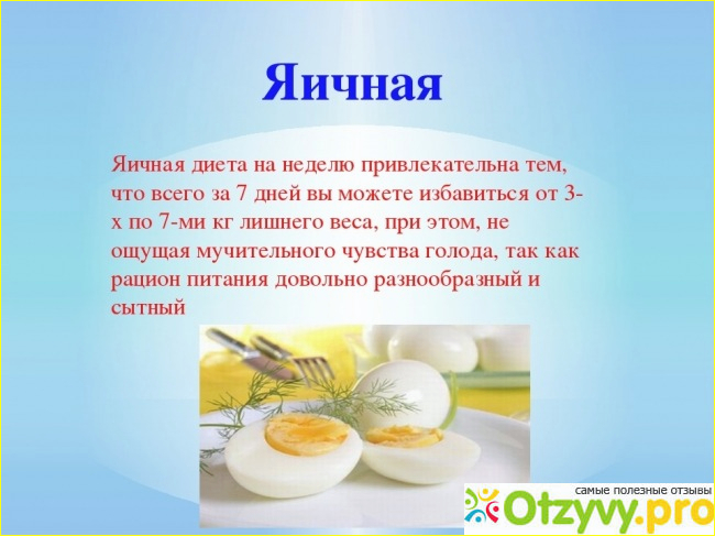 отзывы об яичной диете 7 дней
