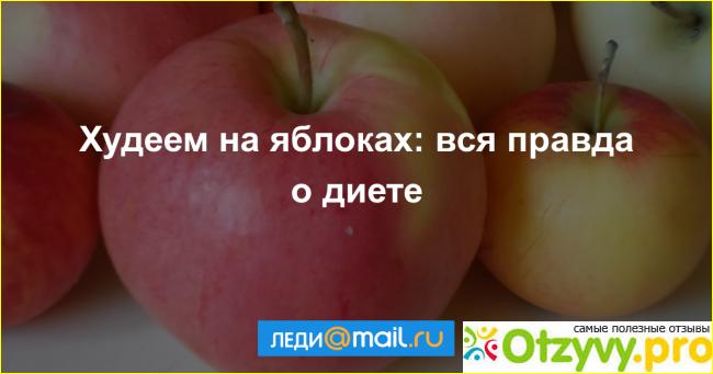 Яблочная диета на отзывы