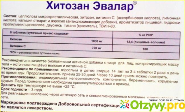 Хитозан отзывы врачей фото1