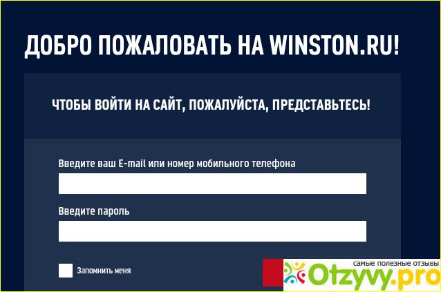 Официальный сайт Winston
