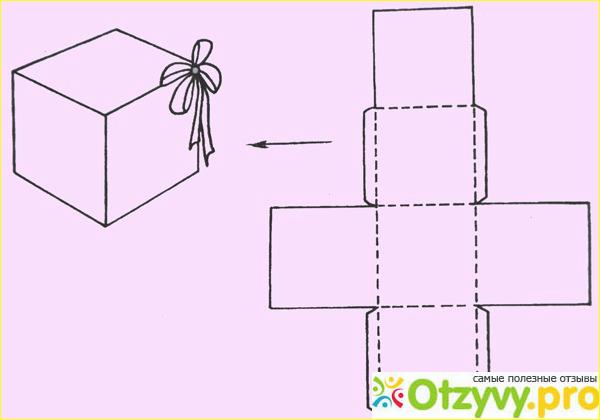 Как сделать коробочку из картона с крышкой схема