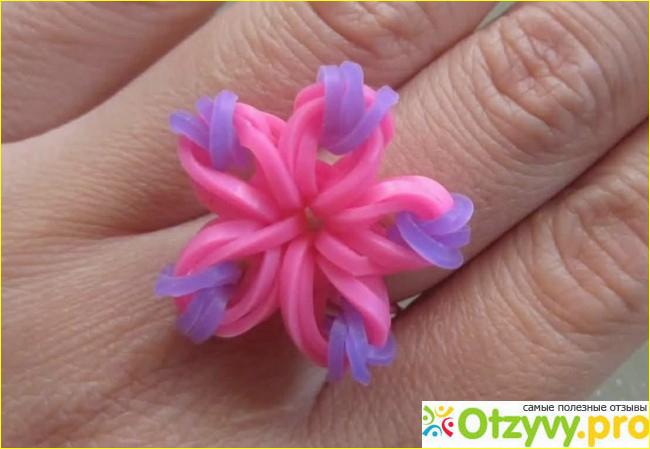 Как сделать браслет из резиночек цветок