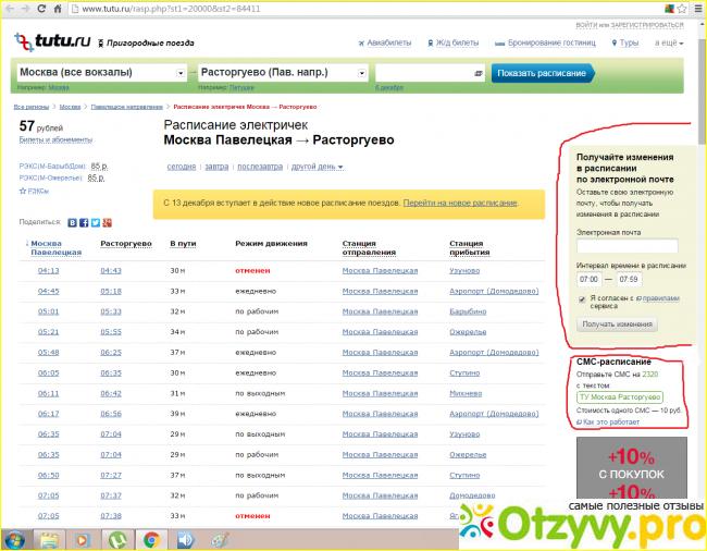 Расписание электричек Москва Казанская - Tutu ru