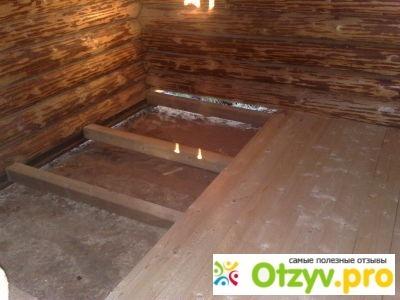 Деревянный пол в бане своими руками фото